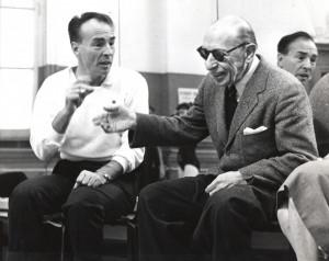 Balanchine and Stravinsky in the studio at NYCB. Photo by Martha Swope ...