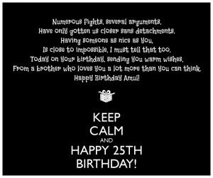 25th Birthday Wishes 14