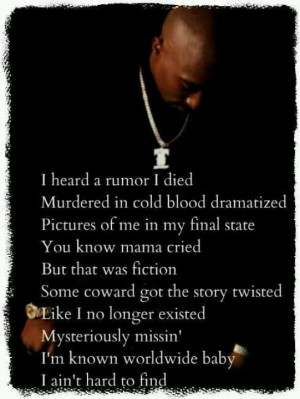 Tupac picture and quote