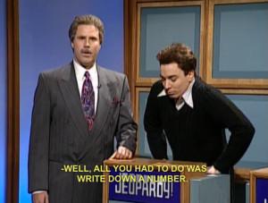Will Ferrell snl jimmy fallon Celebrity Jeopardy Alex Trebek french ...