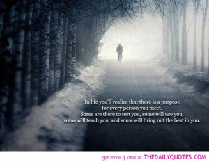 Life Has Purpose Inspirational Picture Quote And Sayings About