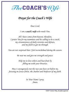 Coaches Prayer Poem