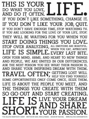 Holstee Manifesto Live Your Dream Poster 3 500x669 Holstee Manifesto ...