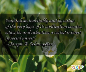Capitalism inevitably and by virtue of the very logic of its ...
