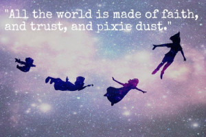 peter pan, quotes, sayings, faith, trust, world | Inspirational ...