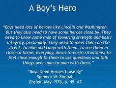 love this quote. I found it while studying Cub Scout training. So ...