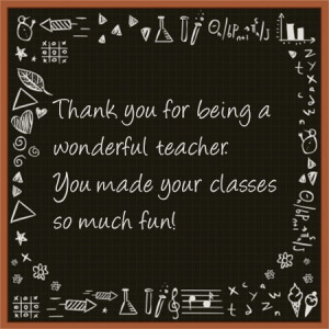 Thanking A teacher