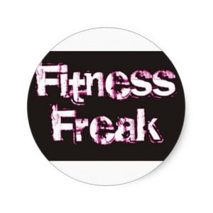 Fitness Freak - Black & Pink Round Sticker