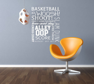 Awesome Basketball Quotes Basketball quote - vinyl