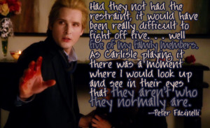Peter Facinelli on Cullen Family bloodlust in New Moon .