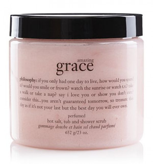 Philosophy's.....Amazing Grace perfumed hot salt scrub.