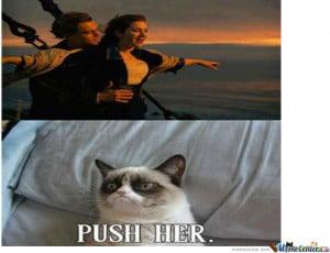 Grumpy Cat Meme Titanic