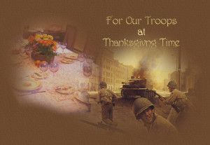 soldier s thanksgiving over there a soldier s thinking of a time not ...