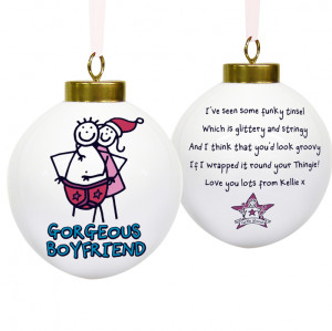 good boyfriend christmas man opening christmas gift