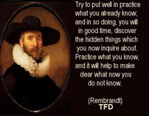 Rembrandt van Rijn Quotes