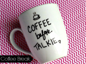 Cute Coffee Mug Quotes Diy hand painted coffee mug