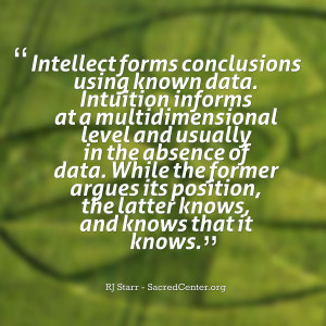 Quotes Picture: intellect forms conclusions using known data intuition ...