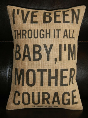 Subway Art Mother Courage Elizabeth Taylor by PolkadotApplePillows, $ ...