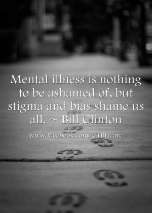 Bill Clinton on stigma