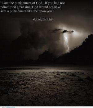 am Punishment of God ~ God Quote
