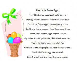 Spring and Easter Poems, Songs, Chants for Preschool and Kindergarten