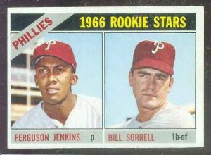 1966 Topps #254 Ferguson Jenkins ROOKIE [#c] (w/Bill Sorrell ...