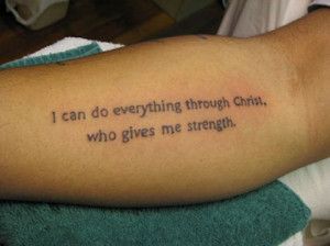 tattoo quote-christian phrase