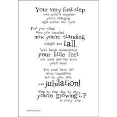Expecting A Baby Girl Poem First steps poem