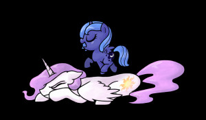 My Little Pony Friendship is Magic Luna walking on Sunshine