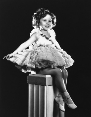 Academy Award-winning actress Shirley Temple.