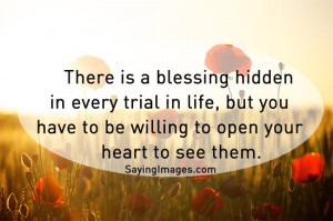 The post There is blessing hidden in every trial in life appeared ...