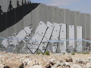 west bank wall banksy