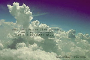 clouds, inspiring, minglovemark, quote, quotes, saying, sayings, text ...