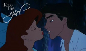 Ariel The Little Mermaid And Eric Kiss The Girl