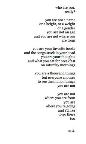 Ein Gedicht dass ich mal auf tumblr gefunden habe