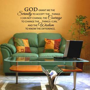 SERENITY-PRAYER-God-Grant-Me-Bible-Christian-Religious-Quote-Vinyl ...