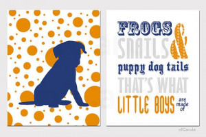 Frogs Snails Puppy Dog Tails Print - Nursery Quote Boys Print Set ...
