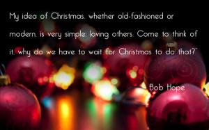 quotes about christmas bob hope
