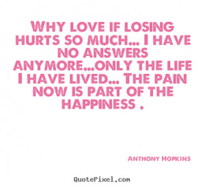 Why Love Losing Hurts Much