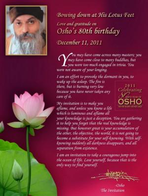 Love & Gratitude on Osho's 80th Birthday, December 11, 2011
