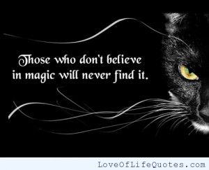 Believe in Magic Quotes