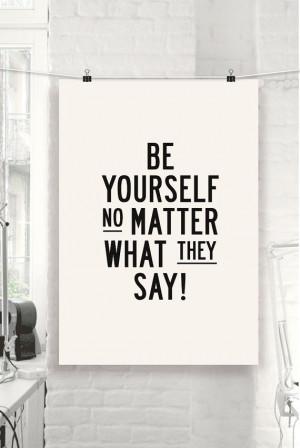 Motivational Quote Typographic Print