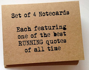RUNNING inspiration quotes blank no te cards set unique birthday gift ...