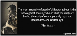 The most strongly enforced of all known taboos is the taboo against ...