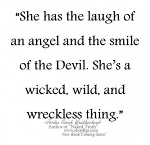 ... Angels Laugh, Devil/Angel Quotes, Angel And Devil Quotes, Quotes