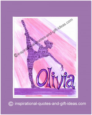 ... gymnastics quotes, pictures and gifts to encourage a creative gymnast