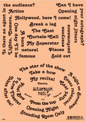 Details about Scrapbook Mania Stickers - THEATRE Words Sayings