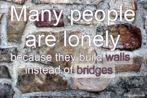 ... Quotes , Lonely Picture Quotes , People Picture Quotes , walls Picture