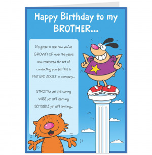 Happy Birthday Brother Funny Messages Sloshes brother birthday