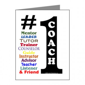 ... Advisor Thank You Cards & Note Cards > #1 Coach Note Cards (Pk of 10